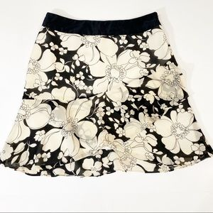 Banana Republic Silk Floral Skirt Size 2